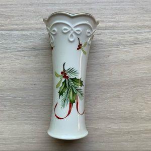 Porcelain Lenox Christmas Mini Bud Vase